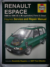 RENAULT ESPACE MANUAL GTS TSE TXE RN RT RXE FAMILY TD HELIOS TURBO 1985 - 1996