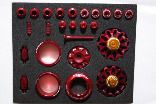Token Tuningset rot Shimano 11 Zähne div Tuningteile Ceramic Schaltwerksrollen