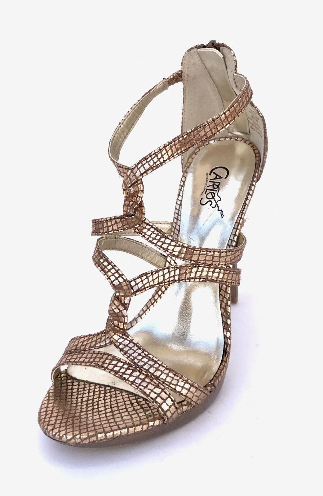 Carlos by Carlos San Bronze Melody Women Size 7.5 Bronze San Sandals 9c7455