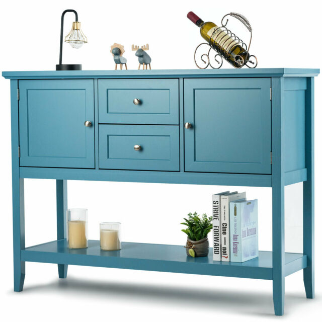 Simple Living Layla Antique Blue Buffet