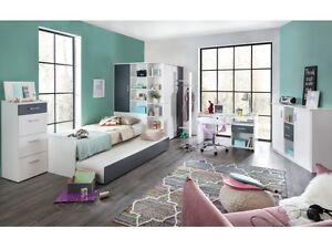 Jugendzimmer Joker 8tlg Komplett Fur Kinder Und Jugendliche Weiss Anthrazit10148 Ebay