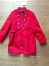 BNWT NEXT Red Military Style Coat 5-6 Yrs Rrp £32