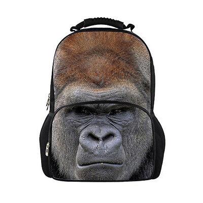 Cool Men Bags Animal Backpack Funny School Gorilla Travel Rucksack Book Bag Ebay