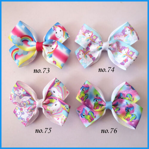 "500 BLESSING Good Girl 2.75/"" Angel Hair Bow Clip Unicorn Accessories Wholesale"