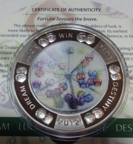Niue 2 dollars 2012 Lottery Fortune  Silver 1 oz  Box  COA