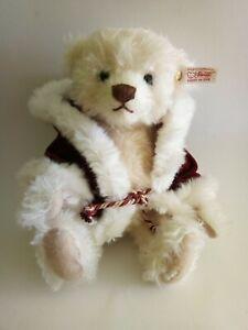 """Steiff Limited Edition 2010 Mohair Christmas Teddy Bear 12"""" 036378"""
