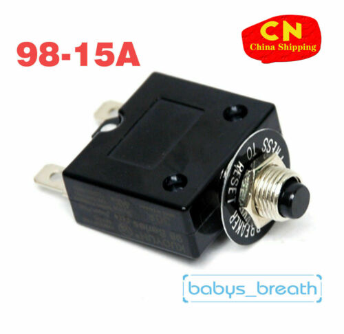 Thermal Overload Circuit Breaker KUOYUH 98 Series 15A 125//250VAC