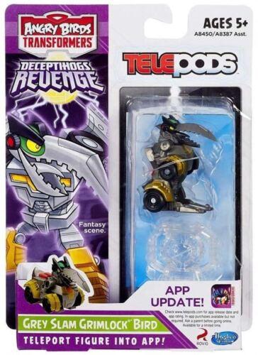 Transformers Hasbro Angry Birds Telepods Grey Slam Grimlock Bird Figure New