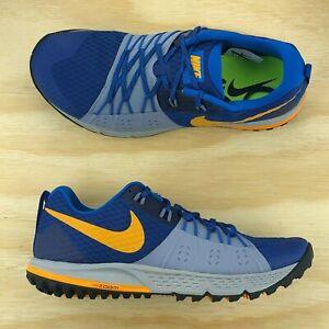 dad9acbb7148 Nike Air Zoom Wildhorse 4 Blue Yellow Grey Cross Training Running ...