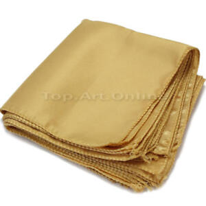 10Pcs-Gold-Square-Cloth-Napkins-for-Holiday-Party-Banquet-Wedding-Hotels-VSV