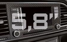 "Seat Leon 5f carbon diafragma para 5,8"" Navi + ventilación CFK Carbon Fiber"