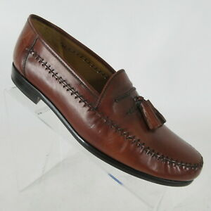 Sandro-Moscolini-La-Vida-Brown-Tassel-Loafers-Dress-Shoes-Mens-Size-9-5-EEE-3E