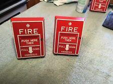 Lot Of 2 Cerberus Pyrotronics Fire Alarm Pull Station Msi 10b Non Coded Box