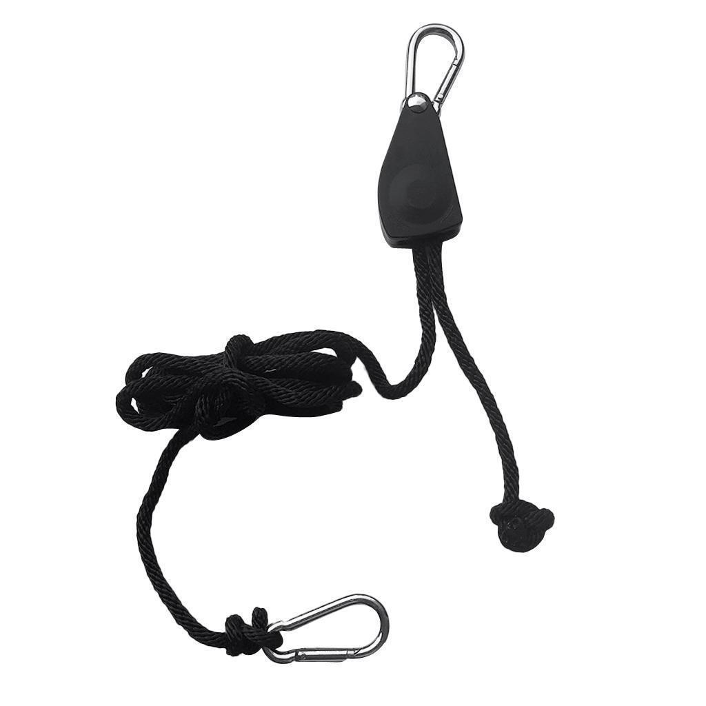 "2 //4 PCS 3//8/"" Ratchet Kayak Canoe Bow Stern Tie Downs Heavy Duty Rope Hanger"