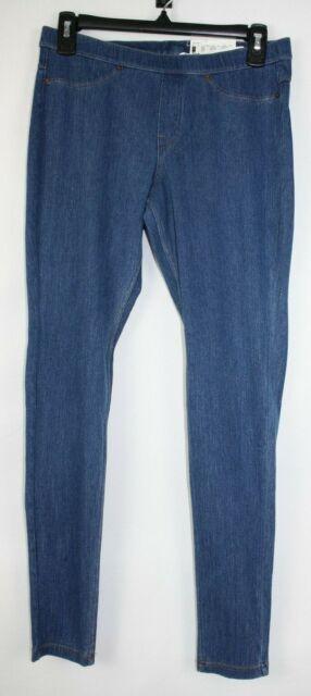$40 Medium Wash HUE U13316 Original Stretch Blue Denim Jeans Leggings