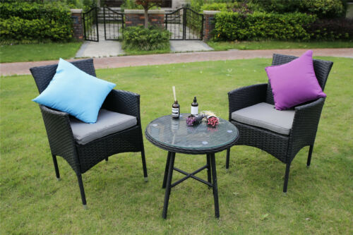 3//4-Piece Outdoor Rattan Garden Furniture Conservatory Small Set Table and Chair