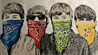 The Beatles One 24x36 Poster Mr. Brainwash John Lennon Paul Mccartney Music Art