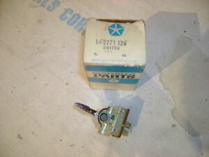 NOS MOPAR 2771124 67-68 FULL SIZE EX IMP; VAL 67-69 switch Emerg flasher