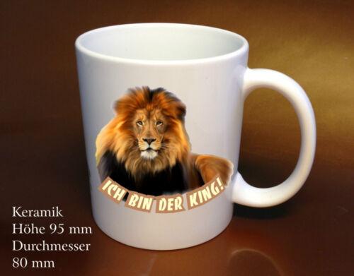 Kaffee Tasse Tiere Löwe auf zwei Seiten gedruckt Sammler Geschenkidee