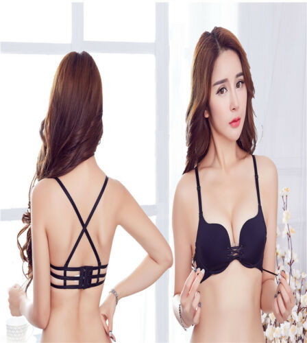Multiway X-type back strap Transparent strap push up women bra ABC Cup Strapless