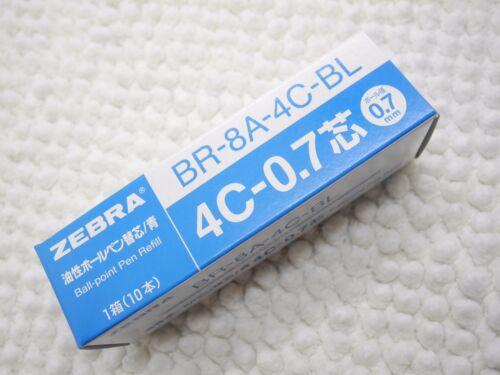 10 set Zebra 4C-0.7mm ball point pen only refill Blue Made in Japan