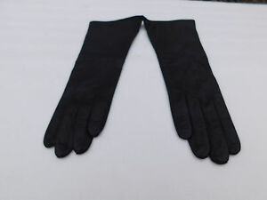 NEW WPT LADIES BLACK LEATHER DRESS GLOVES RAYON LINING SIZE 7