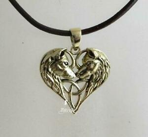 Bronze Unicorn necklace by Lisa Parker on black waxed cord fantasy mythical gift