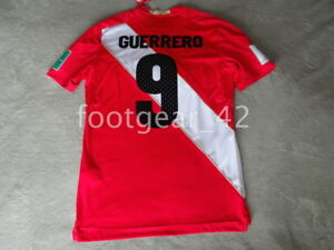 7a77f782a4e Umbro Peru Official Away Paolo Guerrero Authentic Jersey Shirt Russia WC  2018