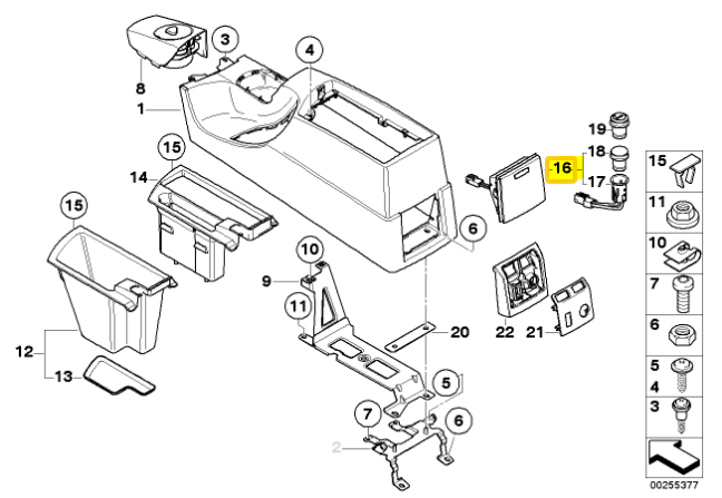 Genuine Bmw X3 E83 Lci Center Console Lower Socket Cover Beige
