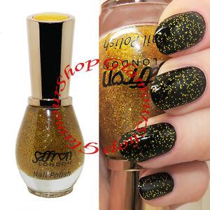 Image Is Loading Gold Glitter Nail Polish Varnish By Saffron London