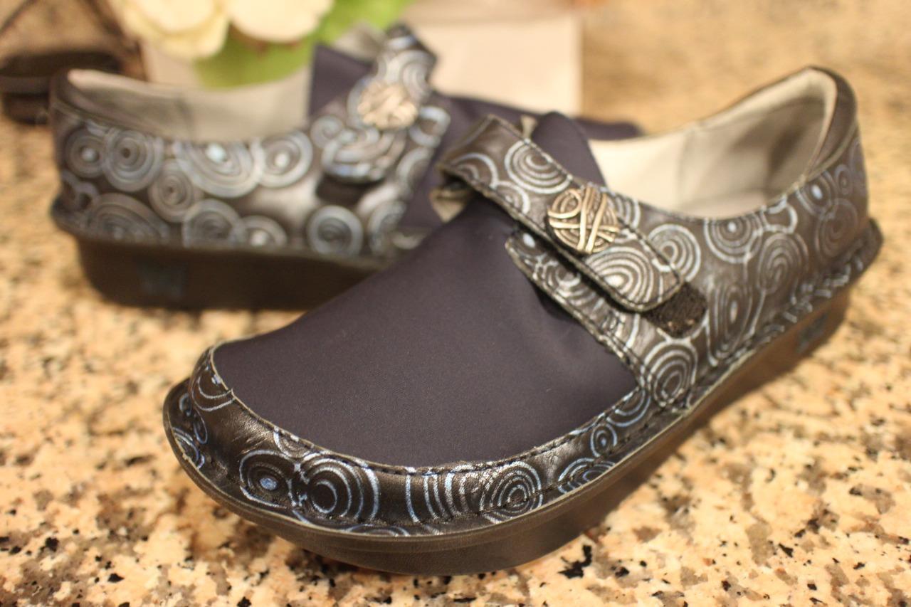 Alegria Dream Fit Leather/Neoprene Slip-Ons Dena 37 Wide DEN-587W (TAC1000