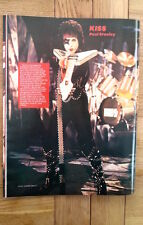 PAUL STANLEY (KISS) 'pointy guitar' magazine PHOTO/Poster/clipping 11x8 inches