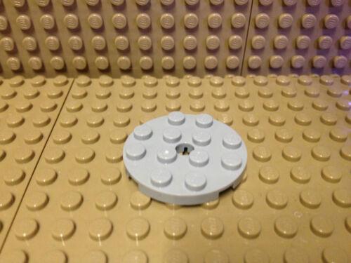 Lego® 10 x Platte Rund 4x4 mit Loch neu-hellgrau NEU #60474
