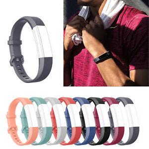 Suave Silicona Reloj Banda Deporte Correa de reloj Pulsera Para Fitbit Alta HR