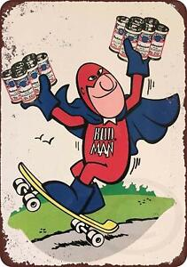 Budweiser-Bud-Man-Vintage-Rustic-Retro-Metal-Sign-8-034-x-12-034