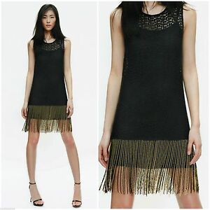 9a144e2370a ZARA WOMEN BLOGGERS BLACK CROCHET LACE DRESS WITH BEADED TASSEL ...