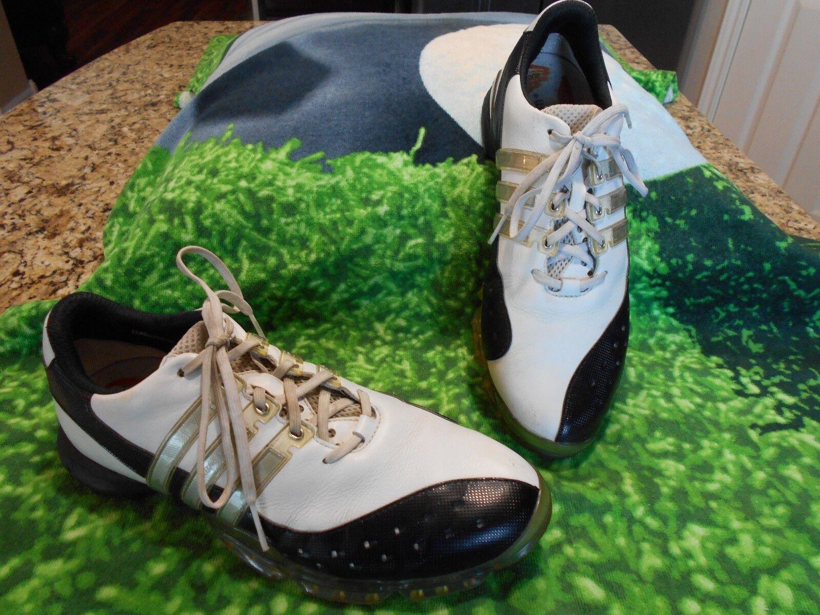 Hombre zapatos de de golf Adidas banda de zapatos potencia chasis blanco & negro comodo Wild Casual Shoes 715ace