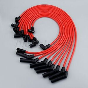 for ford racing 9mm red ignition wire set 5 8l 5 0l 351w. Black Bedroom Furniture Sets. Home Design Ideas
