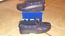 NEW $69 Womens Sperry Duckling Black Rain Shoes, size 9  waterproof rubber
