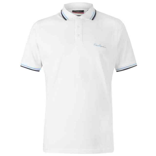 tipped polo Charcoal// White, S Mens classic fit