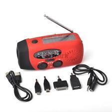 Solar Dynamo Powered Radio Hand Crank AM/FM/WB 3 LED Flashlight Phone Charger