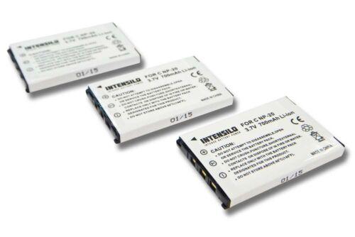 3x BATERIA INTENSILO 700mAh para BenQ DC-X720 DC-X725 DC-X735 DC-X800 T-800