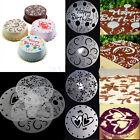 4pcs Round craft Decorating Flower Heart Cake Fondant Flour Cutter Mold Mould J8