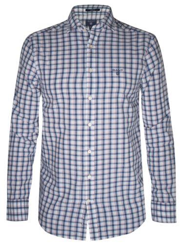 Long Shirt Gant Dark Indigo Check sleeve qntFHCwF7