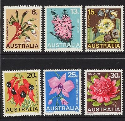 1968 FLOWERS - MINT UNHINGED SET OF SIX