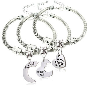 Image Is Loading 3pcs Set Middle Little Sis Love Beads