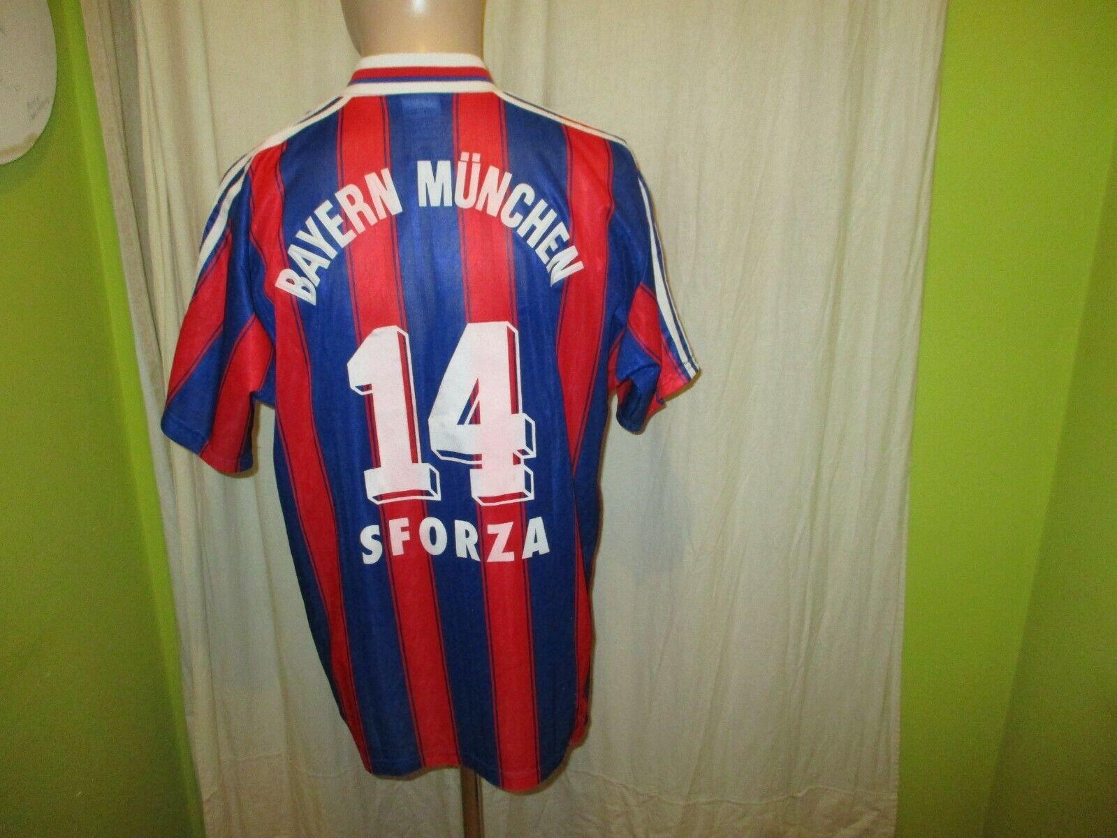 FC Bayern München Original Adidas Trikot 1995-1997 1995-1997 1995-1997  OPEL  + Nr.14 Sforza Gr.M 990578