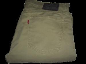 Mens LEVI'S 511 Light Khaki Green Slim Fit Denim Jeans W34 L30