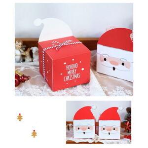 Geschenkbox Weihnachten.Details Zu 12x Weihnachten Geschenkbox Schachtel Keks Apfel Süßigkeiten Verpackung Beutel
