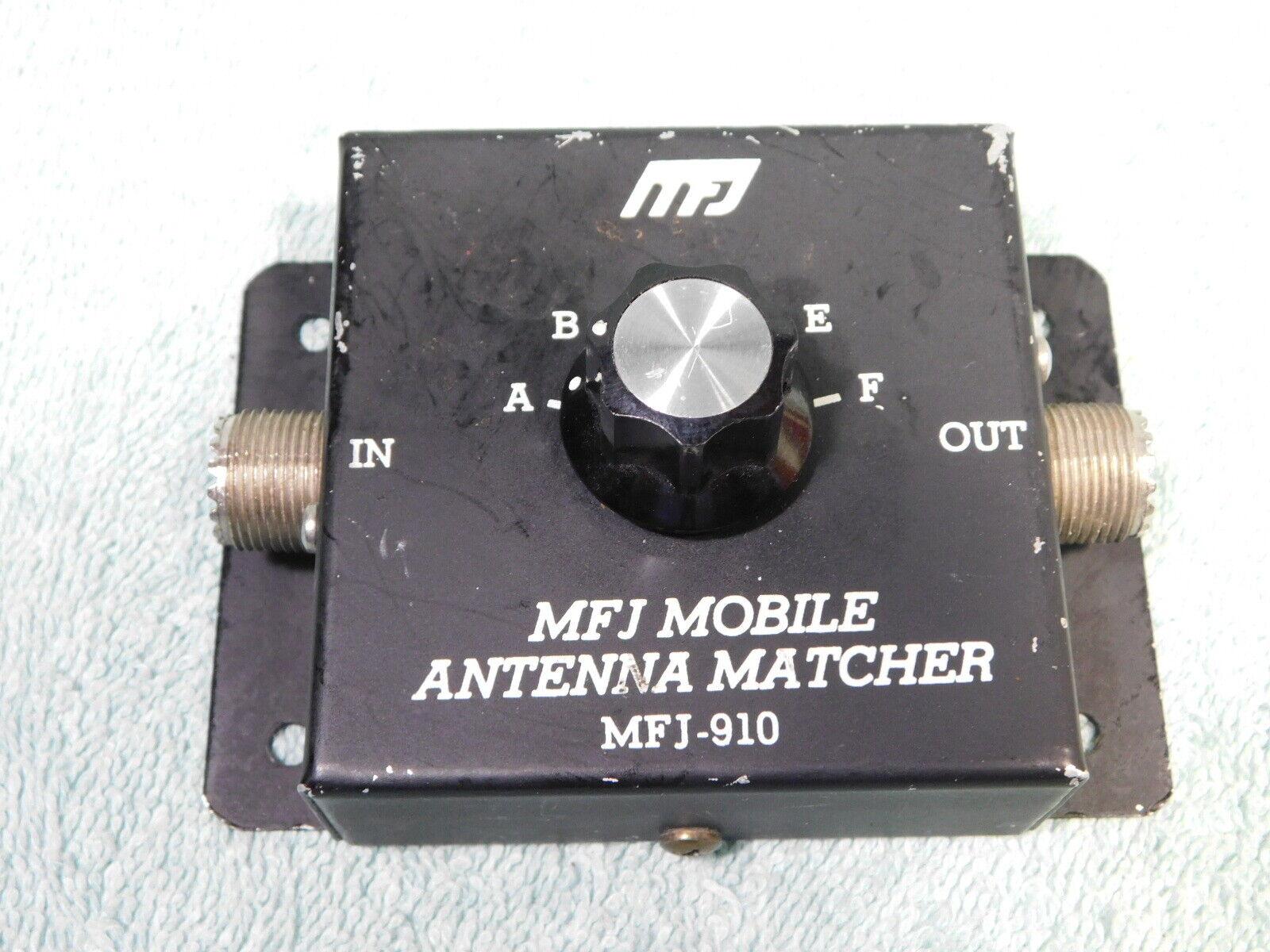 Used 🔥 MFJ-910 200 WATT MOBILE ANTENNA MATCHER FOR SWR FIX / HAM RADIO 50 OHM.